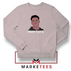 Rapper Free Tay K Sport Grey Sweatshirt