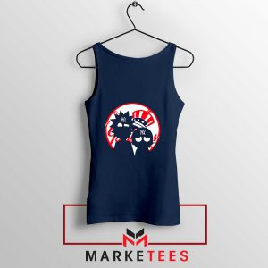 Rick and Morty New York Yankees Navy Blue Tank Top