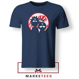 Rick and Morty New York Yankees Navy Blue Tshirt