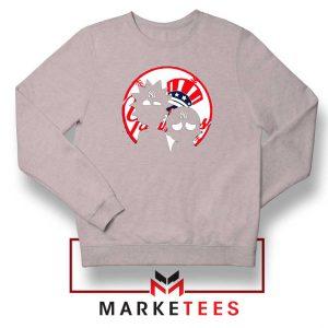 Rick and Morty New York Yankees Sport Grey Sweatshirt