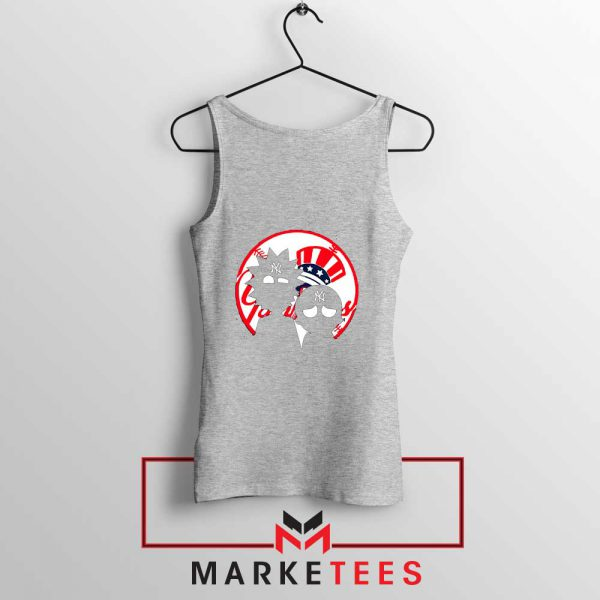 Rick and Morty New York Yankees Sport Grey Tank Top
