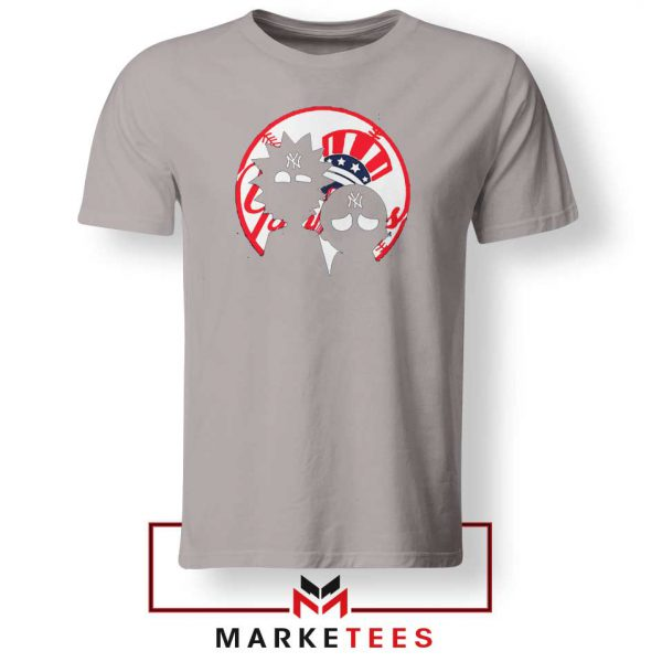 Rick and Morty New York Yankees Sport Grey Tshirt