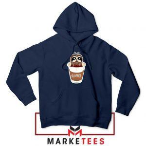 Sloffee Pocket Navy Blue Hoodie