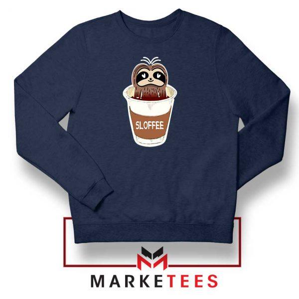 Sloffee Pocket Navy Blue Sweatshirt
