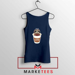 Sloffee Pocket Navy Blue Tank Top