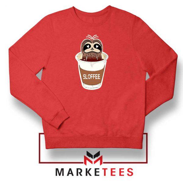 Sloffee Pocket Red Sweatshirt