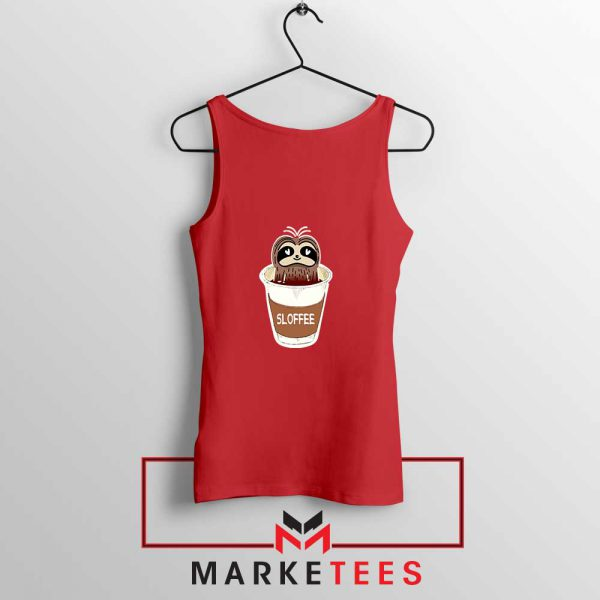 Sloffee Pocket Red Tank Top