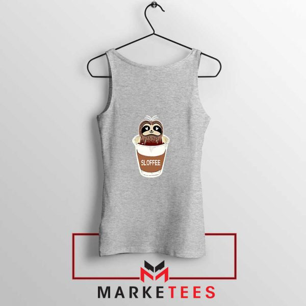 Sloffee Pocket Sport Grey Tank Top