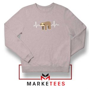 Sloth Lazy Heartbeat Sport Grey Sweatshirt