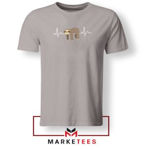 Sloth Lazy Heartbeat Sport Grey Tshirt