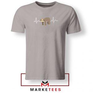 Sloth Lazy Heartbeat Sport Grey Tshirt