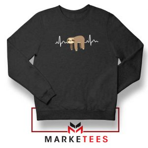 Sloth Lazy Heartbeat Sweatshirt