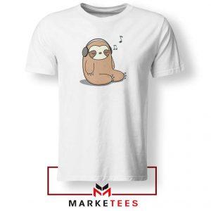 Sloth Listening Music Tshirt
