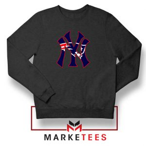 Yankees New England Patriots Black Sweatshirt