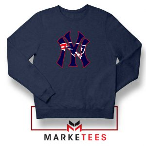 Yankees New England Patriots Navy Blue Sweatshirt