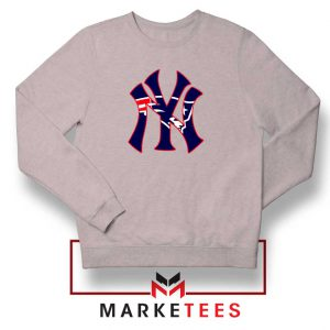 Yankees New England Patriots Sport Grey Sweatshirt