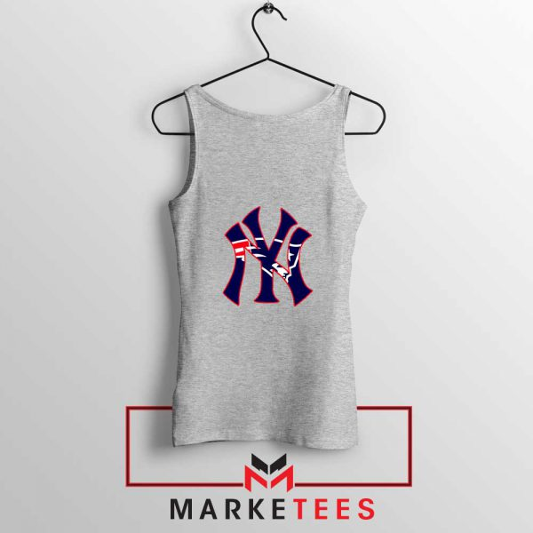 Yankees New England Patriots Sport Grey Tank Top