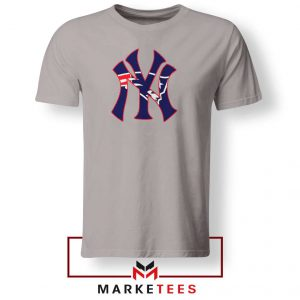 Yankees New England Patriots Sport Grey Tshirt