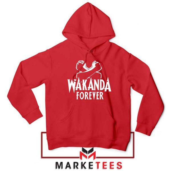 Africa Wakanda Forever Red Hoodie