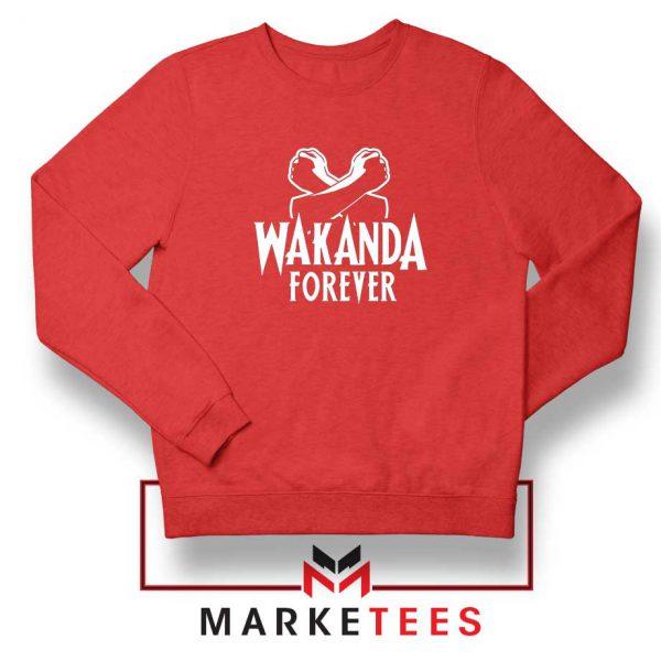 Africa Wakanda Forever Red Sweatshirt