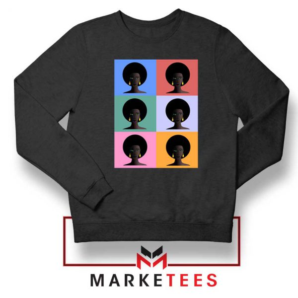 African American Black Sweatshirt