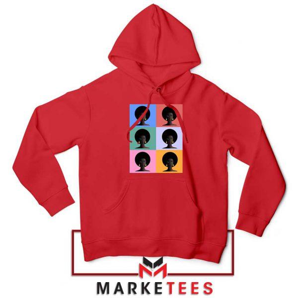 African American Red Hoodie