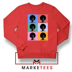 African American Red Sweatshirt