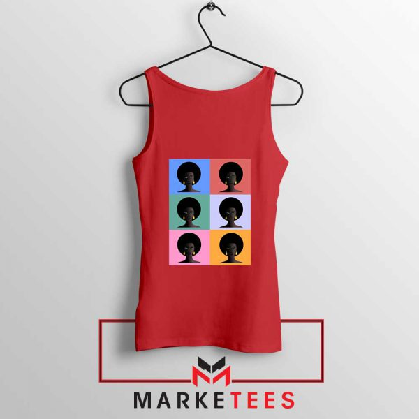 African American Red Tank Top