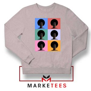 African American Sport Grey Sweatshirt