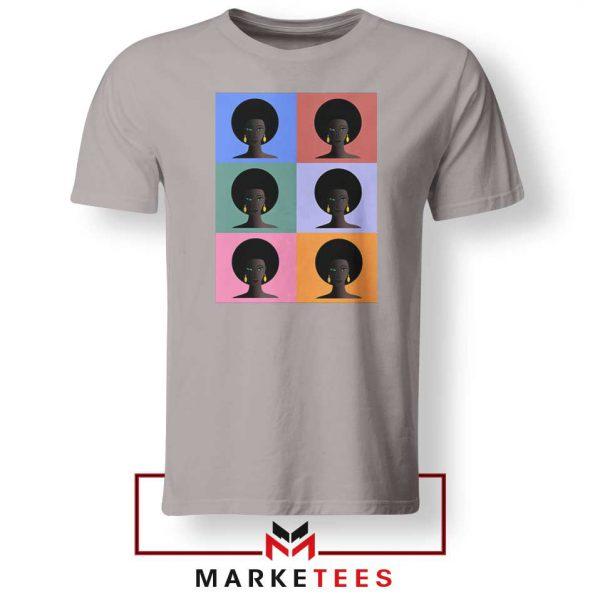 African American Sport Grey Tshirt