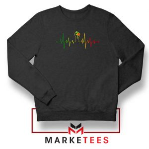 Black Power Heartbeat Black Sweatshirt