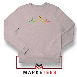Black Power Heartbeat Sport Grey Sweatshirt