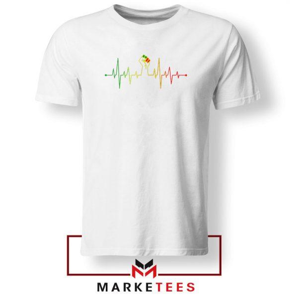 Black Power Heartbeat Tshirt