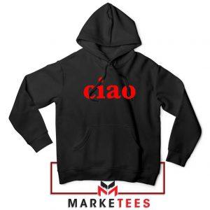 Ciao Italian Black Hoodie