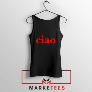 Ciao Italian Black Tank Top