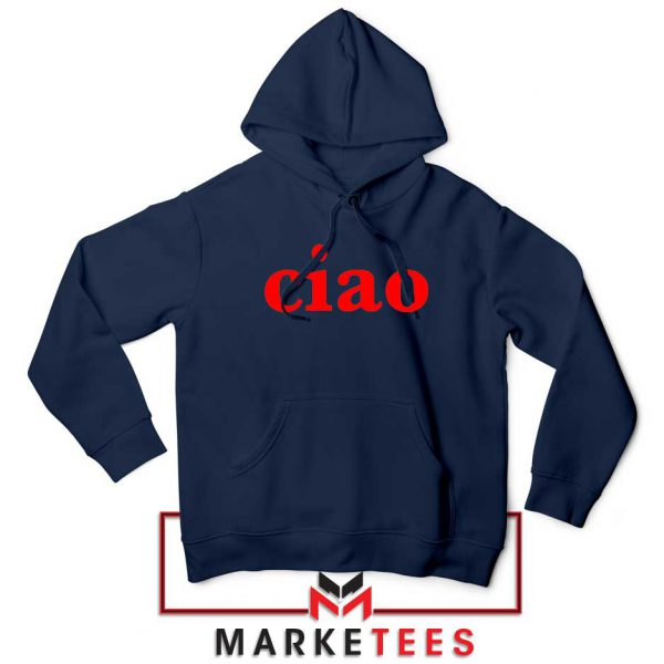 Ciao Italian Navy Blue Hoodie