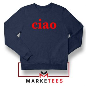 Ciao Italian Navy Blue Sweatshirt