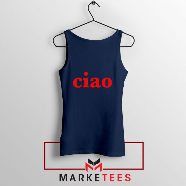 Ciao Italian Navy Blue Tank Top