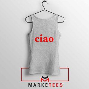 Ciao Italian Sport Grey Tank Top