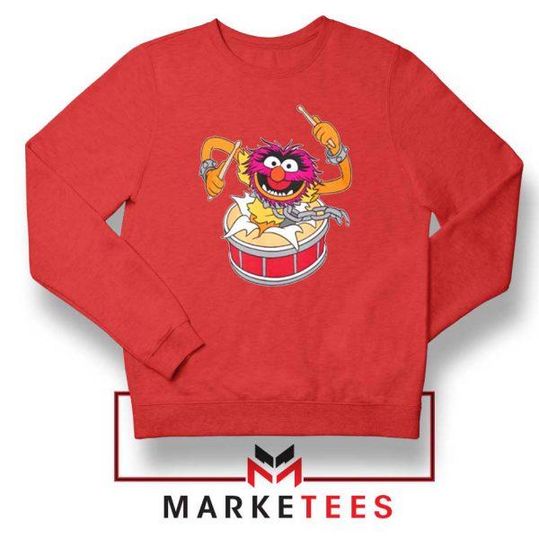 Crashing Through Drums Red Sweatshirt