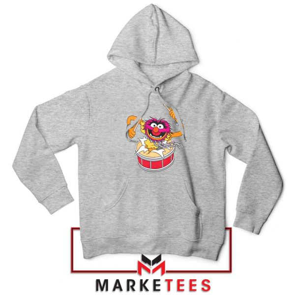 Crashing Through Drums Sport Grey Hoodie