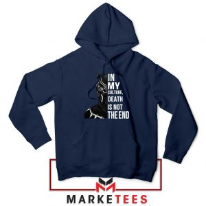 Death Is Not The End Navy Blue Hoodie