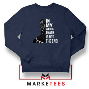 Death Is Not The End Navy Blue Sweatshirt