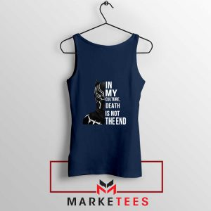 Death Is Not The End Navy Blue Tank Top