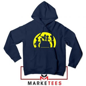 Doh Zombies Simpsons Navy Blue Hoodie