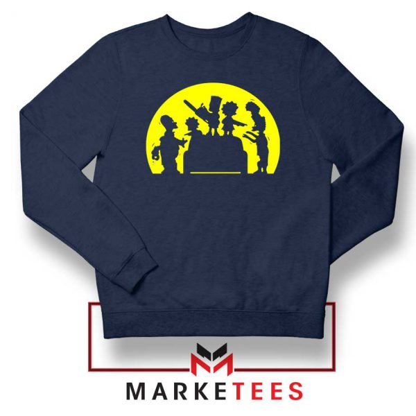 Doh Zombies Simpsons Navy Blue Sweatshirt