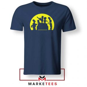 Doh Zombies Simpsons Navy Blue Tshirt