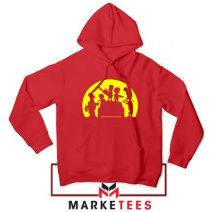 Doh Zombies Simpsons Red Hoodie
