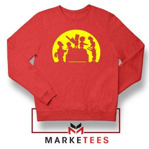 Doh Zombies Simpsons Red Sweatshirt