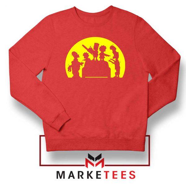 Doh Zombies Simpsons Red Sweatshirt